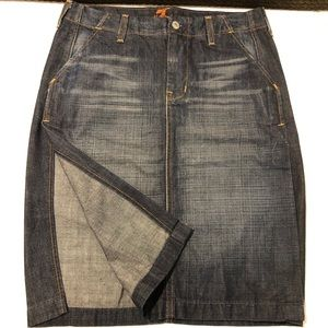 7 for all mankind skirt size 28 (B6#17)